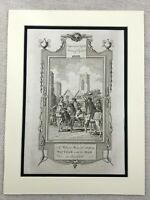 1791 Print Wat Tyler Peasants Rebellion Sir William Walworth Antique Engraving