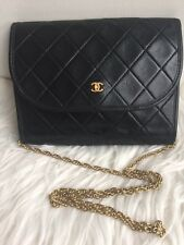 AUTHENTIC CHANEL VINTAGE EXTRA MINI FLAP BAG IN BLACK (GHW)