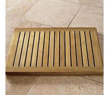 Grade-A Teak Wood 24x18 Floor Mat Door Shower Pool Bath Room Spa Outdoor Garden