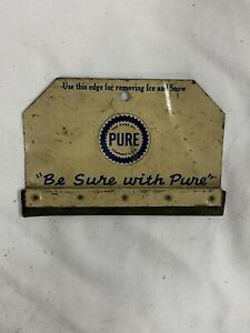 Vintage PURE Oil Gas Station Advertising Sign Gift