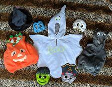 KIDS FANCY DRESS BUNDLE, PUMPKIN, GHOST, SPIDER, WITCH'S HAT, 4 MASKS