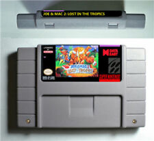 Joe & Mac 2: Lost in the Tropics (SNES, Super NES Nintendo, '94) Joe and Mac II