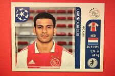 PANINI CHAMPIONS LEAGUE 2011/12 N. 256 EBECILIO AJAX WITH BACK BACK MINT!!