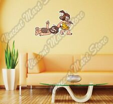"Caveman Family Stone Age Funny Gift Wall Sticker Room Interior Decor 25""X16"""