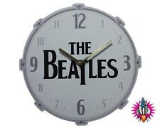 NEW OFFICIAL THE BEATLES DRUM KIT PICTURE WALL CLOCK
