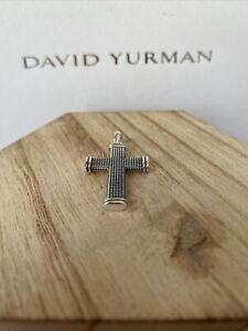 David Yurman 925 Sterling Silver Sky Cross Amulet Necklace Chain Pendant Only