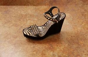 New! Pedro Garcia 'Voka' Studded Wedge Sandals Black 10.5 US 40.5 Eur. MSRP $675