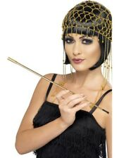 Gold Extendable Cigarette 20s Holder Adult Womens Fancy Dress Costume Accessory