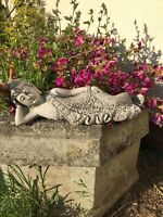 Nirvana small Buddha laying down sleeping stone garden ornament zen meditating
