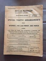 1964 BRITISH RAIL (SOUTHERN REGION) SPECIAL TRAFFIC ARRANGEMENTS LARGE BOOKLET