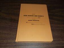 CB&Q BURLINGTON ROUTE BLANK UNUSED BRIDGE INSPECTION LEDGER BOOK