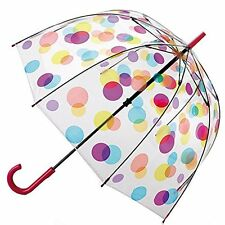 Uniumbrella Transparent Flag Clear Bubble Polka Dot Flower Dome Umbrella, Dots