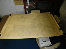 """New York State Vintage Map Of The Thruway Connections No Date 63"""" x 42"""""""