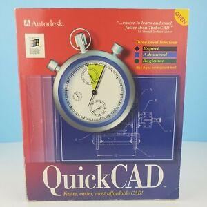 Vintage NEW AutoDesk Drafix Quick CAD Windows 95 Rare Complete Software Set