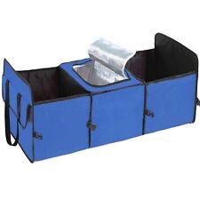 Foldable Multi Bag Car Trunk Organizer Cooler Storage Box Storage Car Cargo Blue