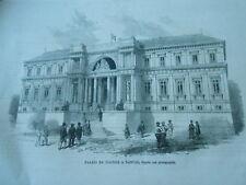 Gravure 1865 - Palais de Justice à Nantes