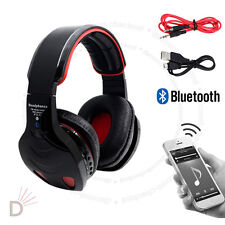 New Black LED Bluetooth Wireless TF MIC Hands-free Headset with Cables UKDC
