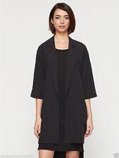 Eileen Fisher NWT $398 lagenlook artsy 100% silk 3/4 sleeve jacket size Medium/L