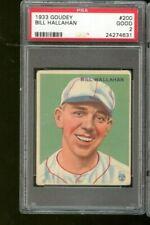1933 Goudey Bill Hallahan #200 St. Louis Cardinals PSA 2