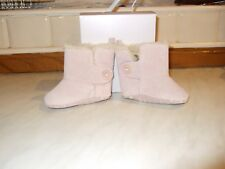 Pink baby bootees from Marks and Spencer. 6-12 months
