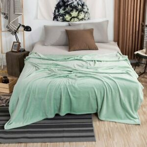 Flannel Throw Blanke Light Breathable Bedspread Soft Thin Air Conditioner Quilt