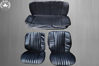 Sitzbezüge Bezüge für VW Käfer 1300 - 1303 Limousine,schwarz mit Perforation NEU
