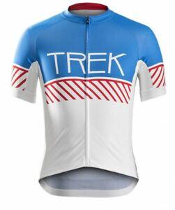 Bontrager Specter Trek Short Sleeve Jersey Cycling Rasta Vintage Blue Red Yellow