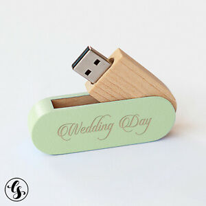 Customized 10 8GB Flash Drive Bulk Pack USB 2.0 Wooden Mahogany Stick Design Add your own Design in Digital Print or Laser Engrave