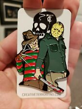 Freddy Krueger Vs Jason Voorhees Friday The 13th Horror Enamel Pin Sold Out Elm