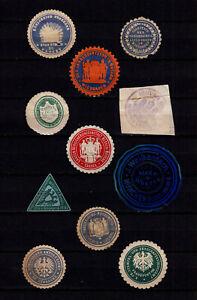 4106/ Lot Siegelmarken – kreuz und quer durch Ämter und Firmen – siehe scan