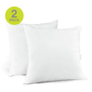Beautyrest 300TC 100% Cotton Down Alternative Euro Square Pillow Twin Pack 28x28