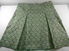 George Me Designs Mark Eisen Womens Skirt Size 16 Green Paisley Pleated Stretch