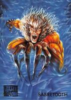 SABRETOOTH / 1995 Marvel Masterpieces (Fleer) Base Trading Card #87