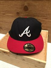 Atlanta Braves New Era 59Fifty 5950 100% Wool Fitted Hat Size 7 1/4 Made in USA