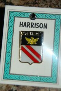 HARRISON Family PIN LAPEL Coat of Arms - Heraldic Crest - Clip Badge - Brooch