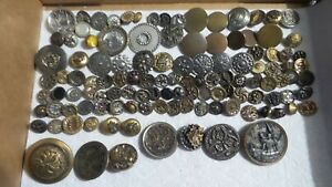 Antique METAL BUTTON LOT, Victorian, Filigree, Scenic, Floral, Various Size, #3
