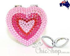 BLING PINK Makeup/Cosmetic Crystal Compact / Pocket Folding Mirror