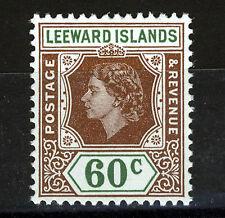 LEEWARD ISLANDS 1954 DEFINITIVES SG137 60c  MNH