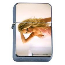 Norwegian Pin Up Girls D2 Flip Top Oil Lighter Wind Resistant With Case
