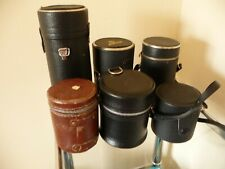 6 Camera Lens Cases - Various Sizes - Various Conditions - Various Ages