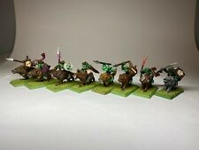 Warhammer Orcs and Goblins - Goblin Wolf Riders x 8 Painted Very Well