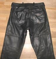 """HEIN GERICKE CLASSIC GEAR LEDERJEANS / Biker- Lederhose schwarz ca. W33"""" /L32"""""""