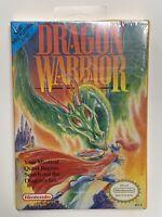 "Sealed 1st Print ""H"" Seam Dragon Warrior w/ Hang Tab (NES) (Nintendo)"