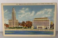 Vintage Postcard New Ohio State Office Building & A 1 U Citadel Postmarked 1941