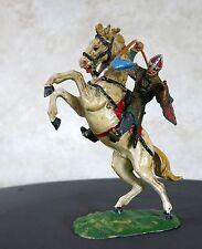ELASTOLIN, beau chevalier au cheval cabré, cavalier, soldat, elastolin, ANCIEN .