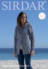 Sirdar 8056 Knitting Pattern Womens Cable Cardigan in Sirdar Imagination Chunky