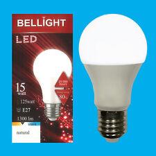 6x 15W (=125W) LED GLS A65 ES E27 6500K Daylight White Light Bulb Lamp 1300Lm