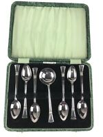 Vintage Set of 7 Silverware Tea Spoons Silver Plated MADE IN ENGLAND