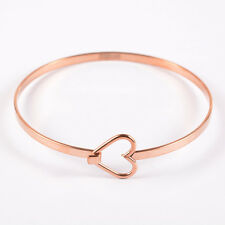 """1 Rose Gold Stainless Steel Bangle Charm Bracelet Blank, about 7"""" long fin0558"""