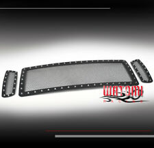 05-07 FORD EXCURSION/F250/F350 SUPERDUTY UPPER RIVET STAINLESS MESH GRILLE BLACK